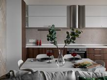 Квартира «Квартира на Готвальда», кухня . Фото № 32142