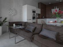 Квартира «Квартира в ЖК Vivaldi», кухня . Фото № 32144