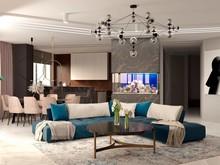 Квартира «Квартира на Левом берегу», гостиная . Фото № 32157, автор ViO-design Мастерская дизайна