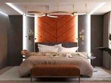 Квартира «Квартира на Левом берегу», спальня . Фото № 32159, автор ViO-design Мастерская дизайна