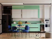 Квартира «Графичный Soleray в ЖК Хорошевский.», кухня . Фото № 32174, автор Ивлиева Евгения