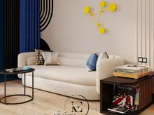 Квартира «Графичный Soleray в ЖК Хорошевский.», гостиная . Фото № 32175, автор Ивлиева Евгения