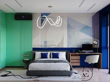 Квартира «Графичный Soleray в ЖК Хорошевский.», спальня . Фото № 32178, автор Ивлиева Евгения