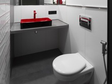 Квартира «Цветом как звуком», санузел . Фото № 32187, автор TerraDiz студия дизайна