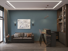 Квартира «Дизайн-проект квартиры, ЖК Зиларт», кабинет . Фото № 32200, автор Декотренд