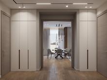 Квартира «Дизайн-проект квартиры, ЖК Зиларт», прихожая . Фото № 32203, автор Декотренд