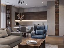 Квартира «Дизайн-проект квартиры, ЖК Зиларт», гостиная . Фото № 32198, автор Декотренд