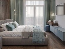Квартира «Дизайн-проект квартиры, ЖК Зиларт», спальня . Фото № 32199, автор Декотренд