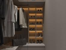Квартира «S028», гардеробная . Фото № 32211, автор Yousupova