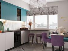 Квартира «Осенний иней», кухня . Фото № 32255, автор Ивлиева Евгения