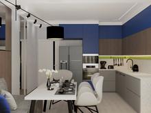Квартира «Квартира Уютный минимализм!», кухня . Фото № 32287, автор Гусева Анна