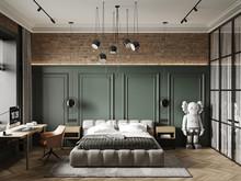 Квартира «-LOFT-», спальня . Фото № 32302, автор Савинов Александр