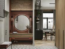 Квартира «-LOFT-», прихожая . Фото № 32305, автор Савинов Александр