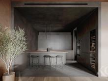Квартира «Nature contrast», кухня . Фото № 32324, автор Сидорова Маргарита