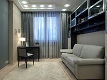 Квартира «», кабинет . Фото № 15397, автор Еврострой Менеджмент