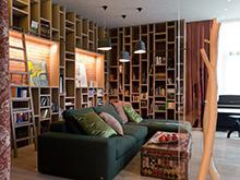 Квартира «», библиотека . Фото № 17060, автор Казаковцева Александра, Махонина Мария, МК-интерио