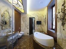 интерьер ванной, Дом-А