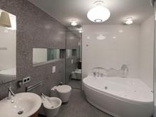 интерьер ванной, Архитектурное Бюро Патрушевых Евгений и Ирина