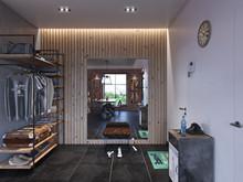 Квартира «Лофт», прихожая . Фото № 24116, автор ComfortStyle
