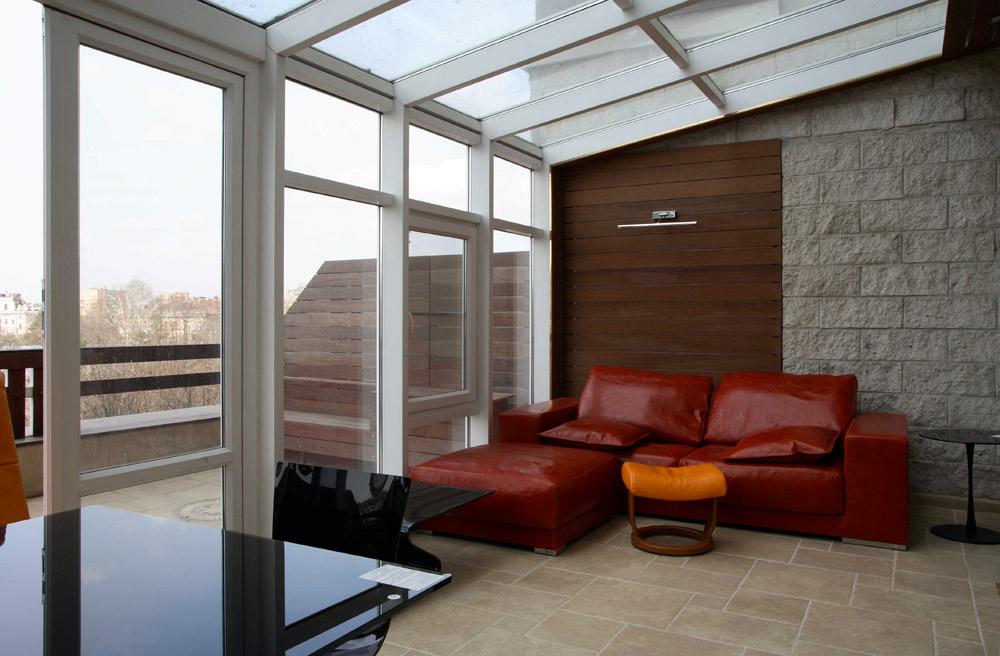 Квартира «», веранда лоджия, фото из проекта