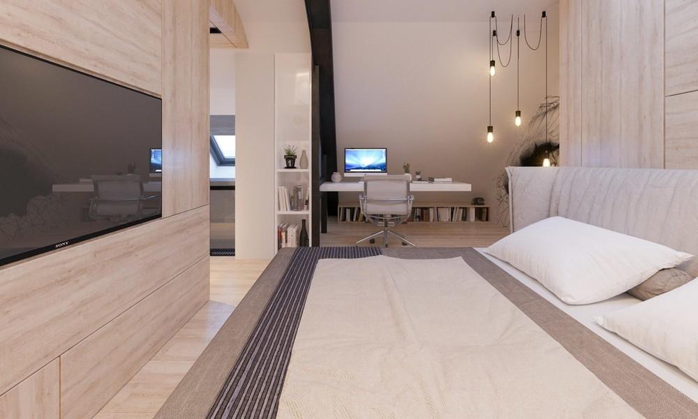 Квартира «Квартира для творческий и позитивных людей.», спальня, фото из проекта