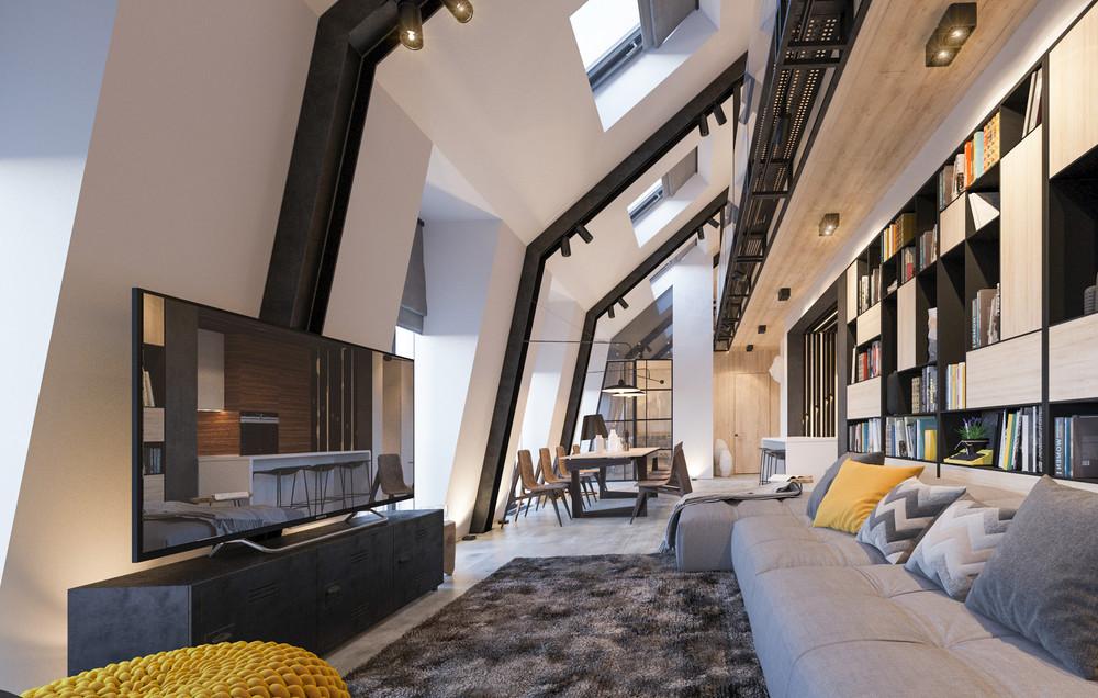 Квартира «Квартира для творческий и позитивных людей.», гостиная, фото из проекта