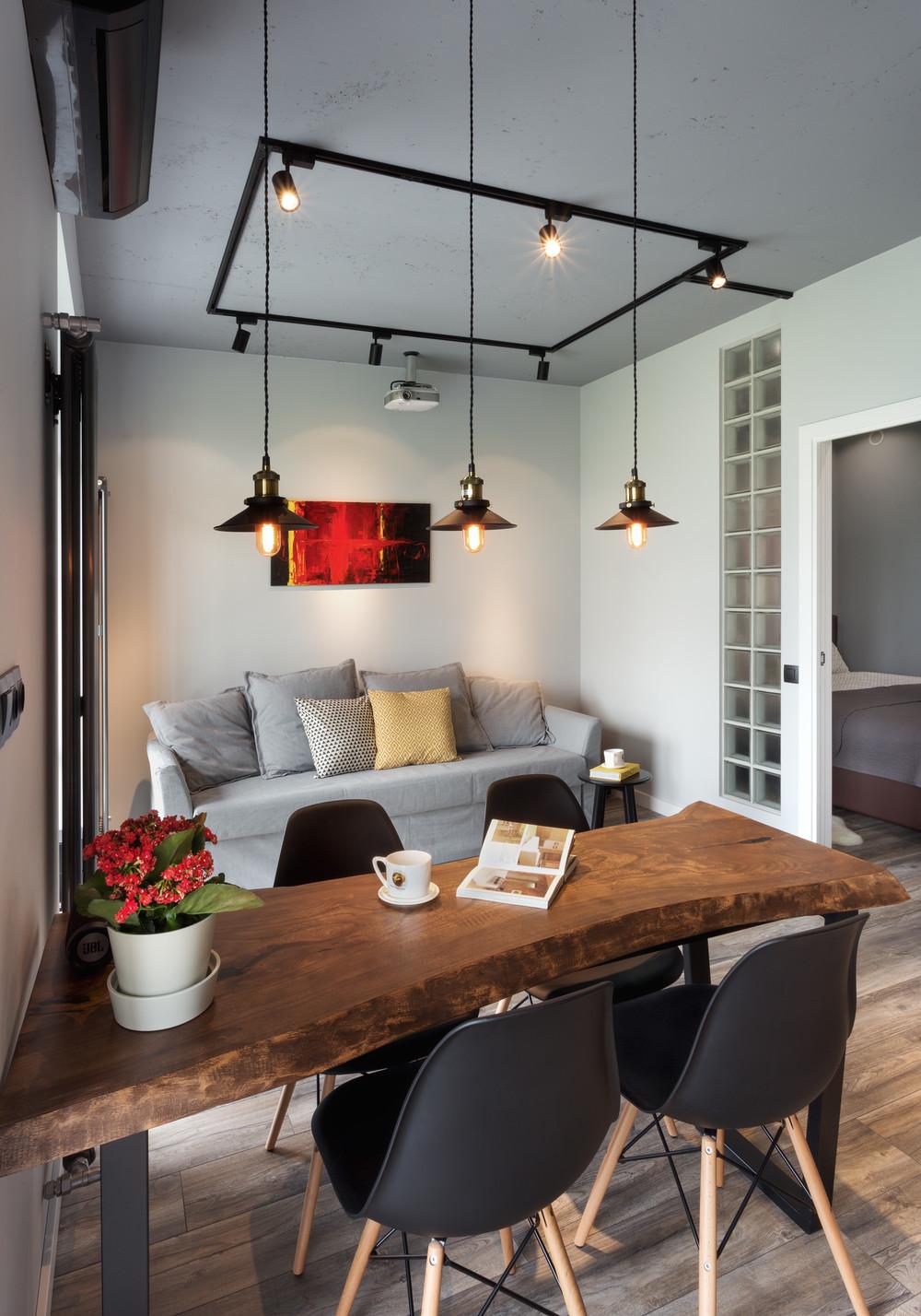 Квартира «Квартира для холостяка», гостиная, фото из проекта