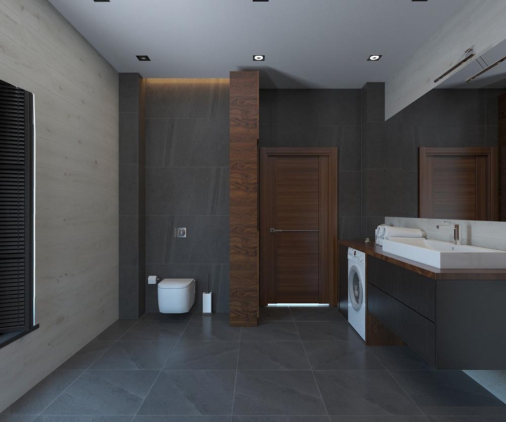 Квартира «Дом в стиле лофт», ванная, фото из проекта