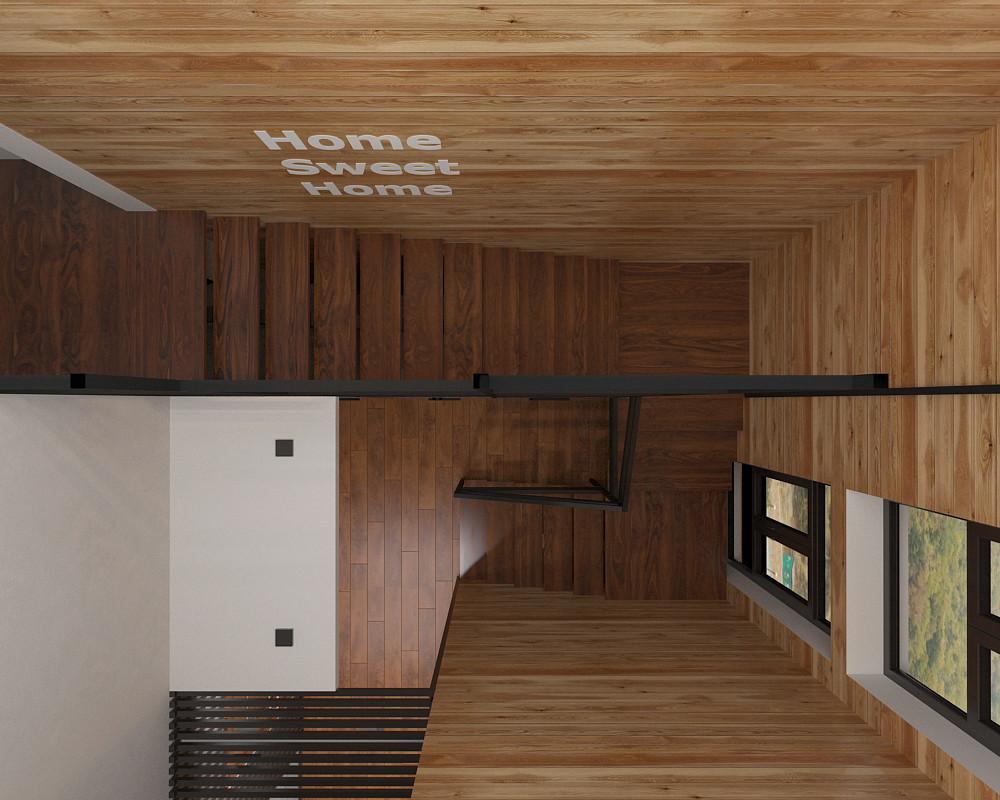 Квартира «Дом в стиле лофт», холл, фото из проекта