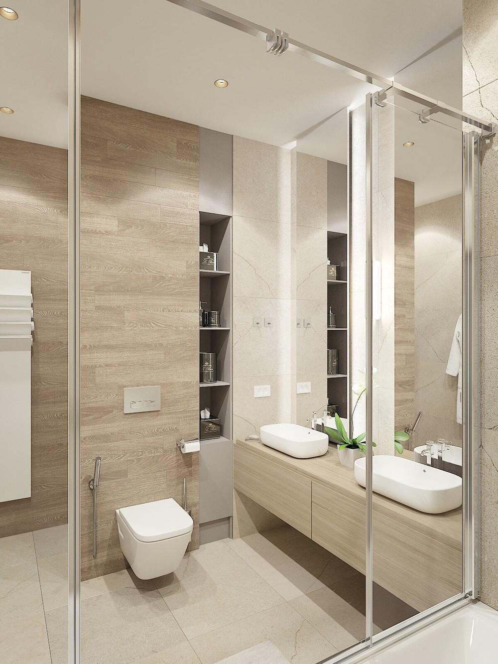 Квартира «ЖК Олимпийская Ривьера Новогорск», ванная, фото из проекта