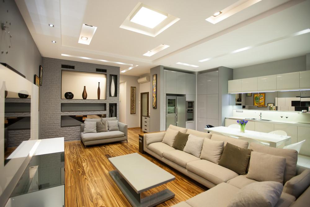 Квартира «Квартира в современном стиле», гостиная, фото из проекта
