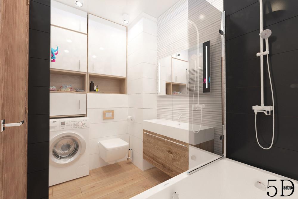 Квартира «Однокомнатная квартира», ванная, фото из проекта