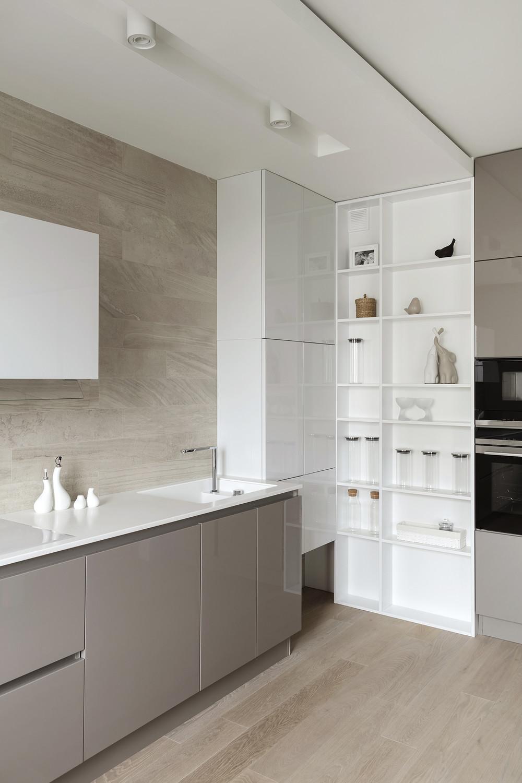 Квартира «ЖК Мичуринский», кухня, фото из проекта