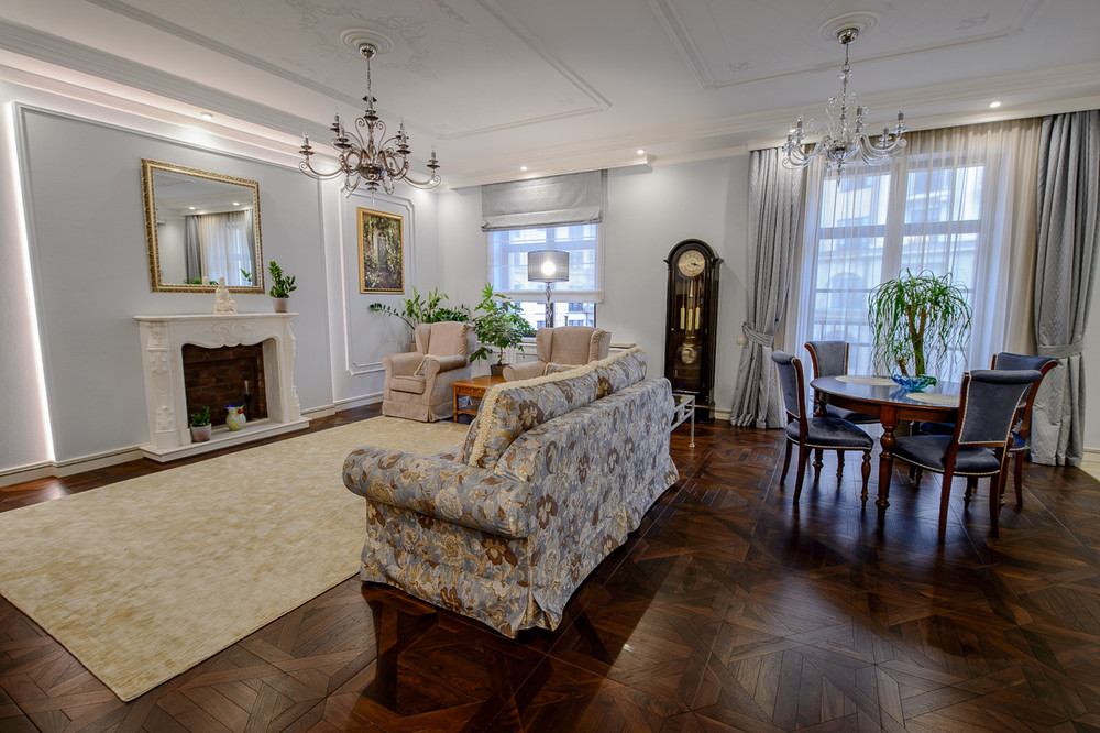 Квартира «Итальянский квартал», гостиная, фото из проекта