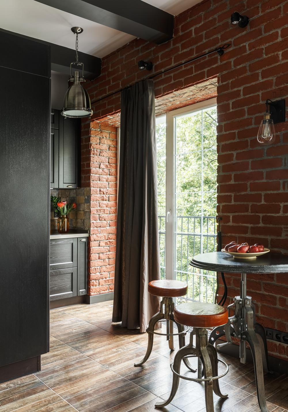 Квартира «Маленький лофт для нее», гостиная, фото из проекта