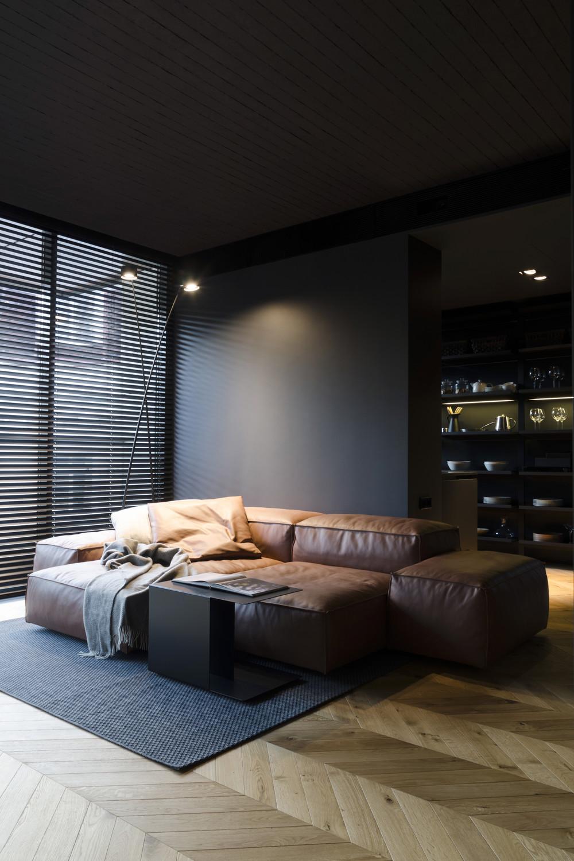 Квартира «Mans space», гостиная, фото из проекта