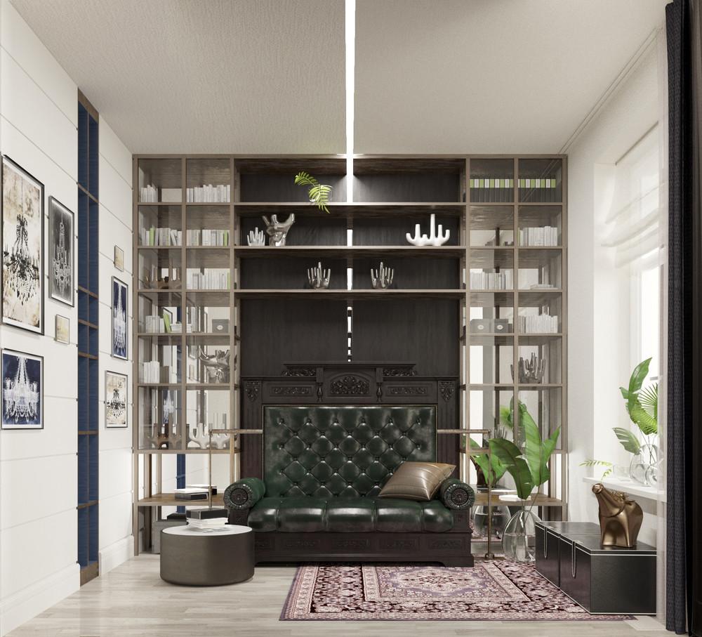 Квартира «Басманная_LIFE», гостиная, фото из проекта