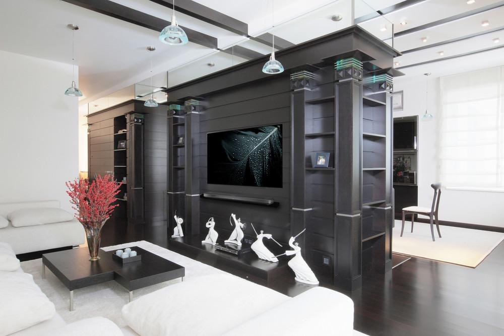 Квартира «Иллюзия бесконечности», гостиная, фото из проекта