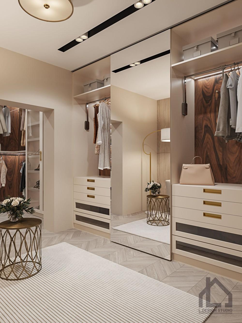Квартира «ЖК Лайнер», гардеробная, фото из проекта