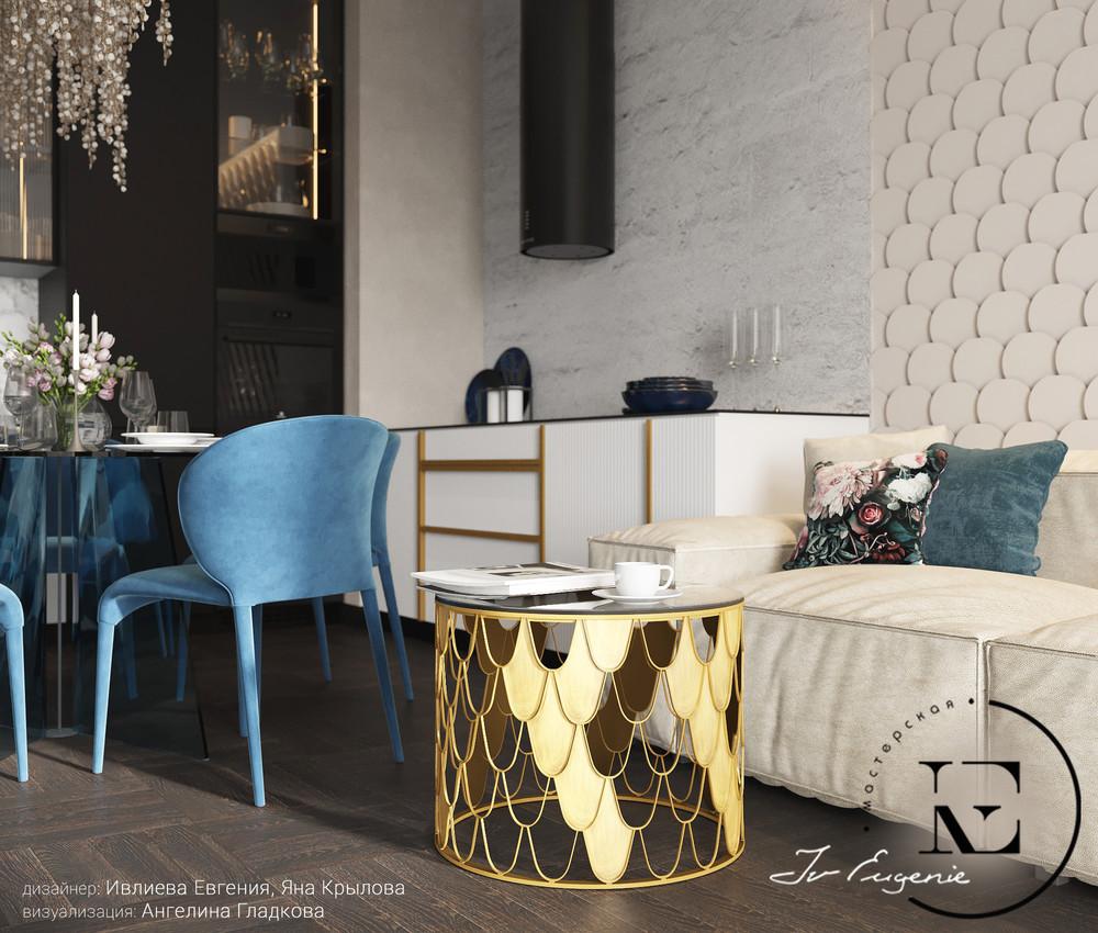 Квартира «Квартира в неорусском стиле.», гостиная, фото из проекта