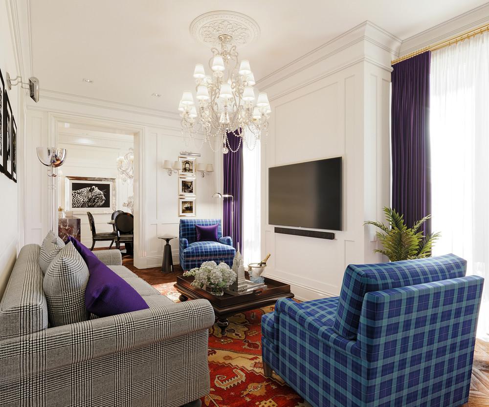 Квартира «ЖК Пресня - Сити», гостиная, фото из проекта