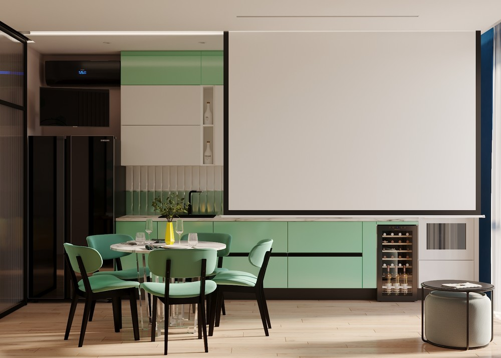Квартира «Графичный Soleray в ЖК Хорошевский.», кухня, фото из проекта