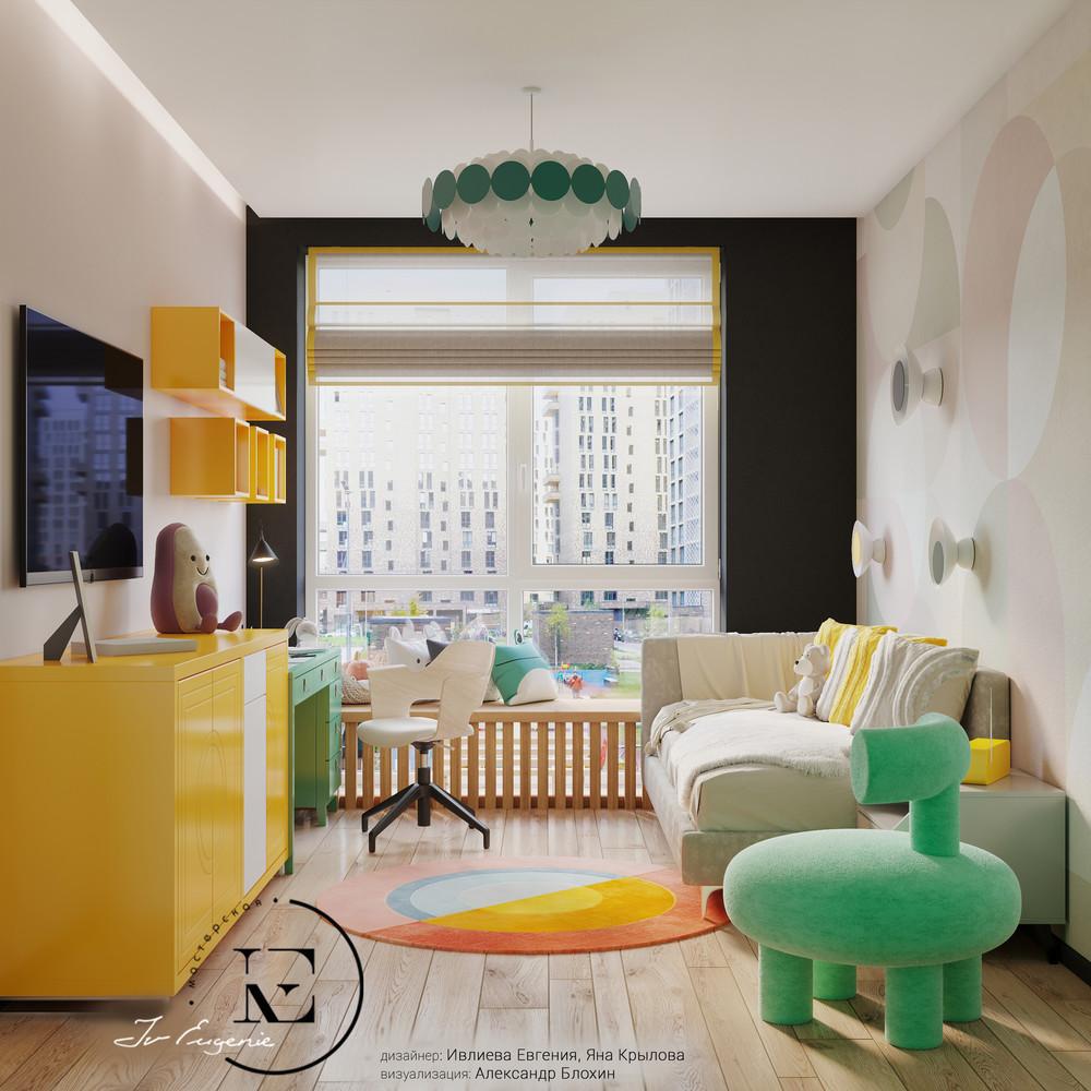 Квартира «Графичный Soleray в ЖК Хорошевский.», детская, фото из проекта