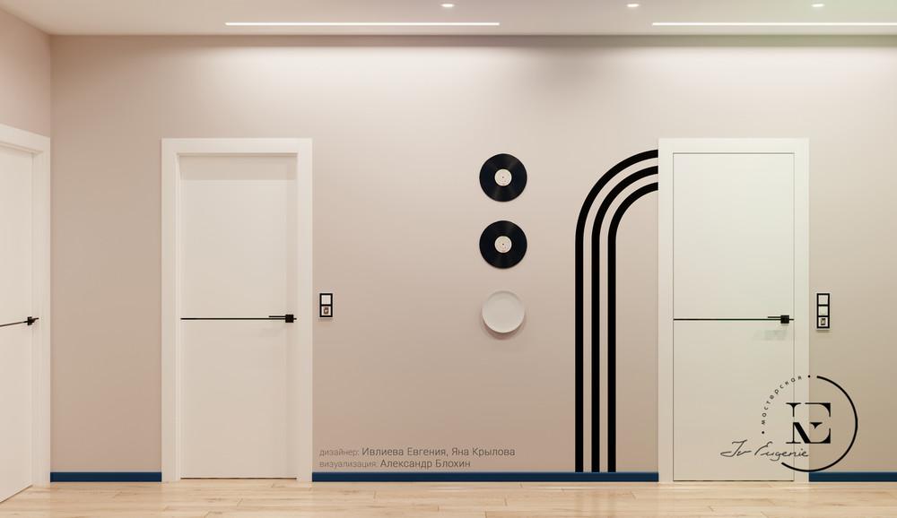 Квартира «Графичный Soleray в ЖК Хорошевский.», прихожая, фото из проекта