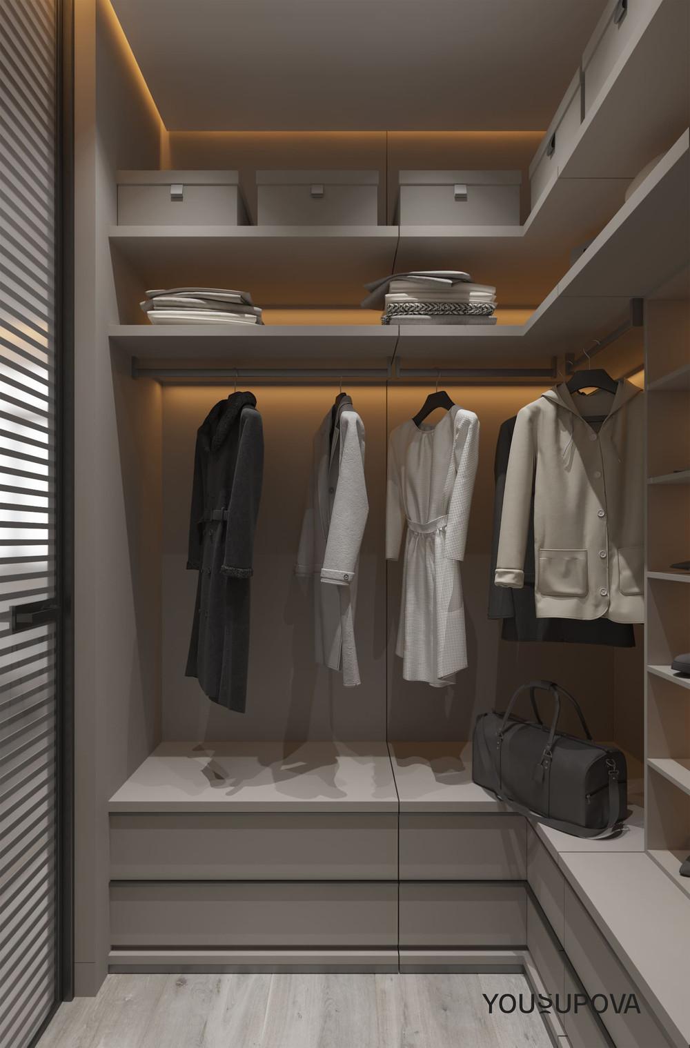 Квартира «S028», гардеробная, фото из проекта