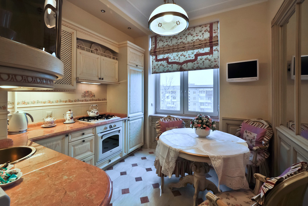 Дизайн классической кухни, создание интерьера.