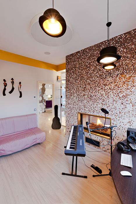 Квартира «», музыкальная комната, фото из проекта