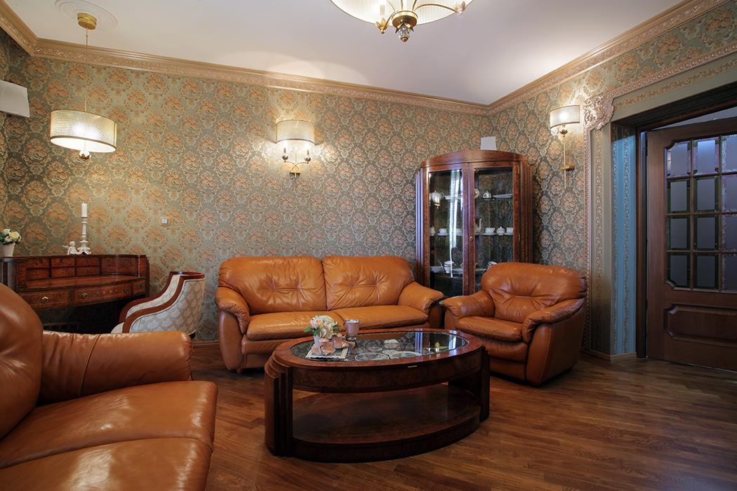 Кожаная Мебель В Интерьере Гостиной В Москве