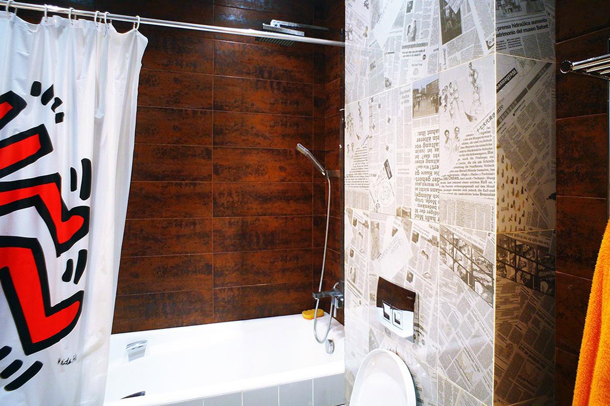 Квартира «Квартира на Молодогвардейской, Москва», ванная, фото из проекта