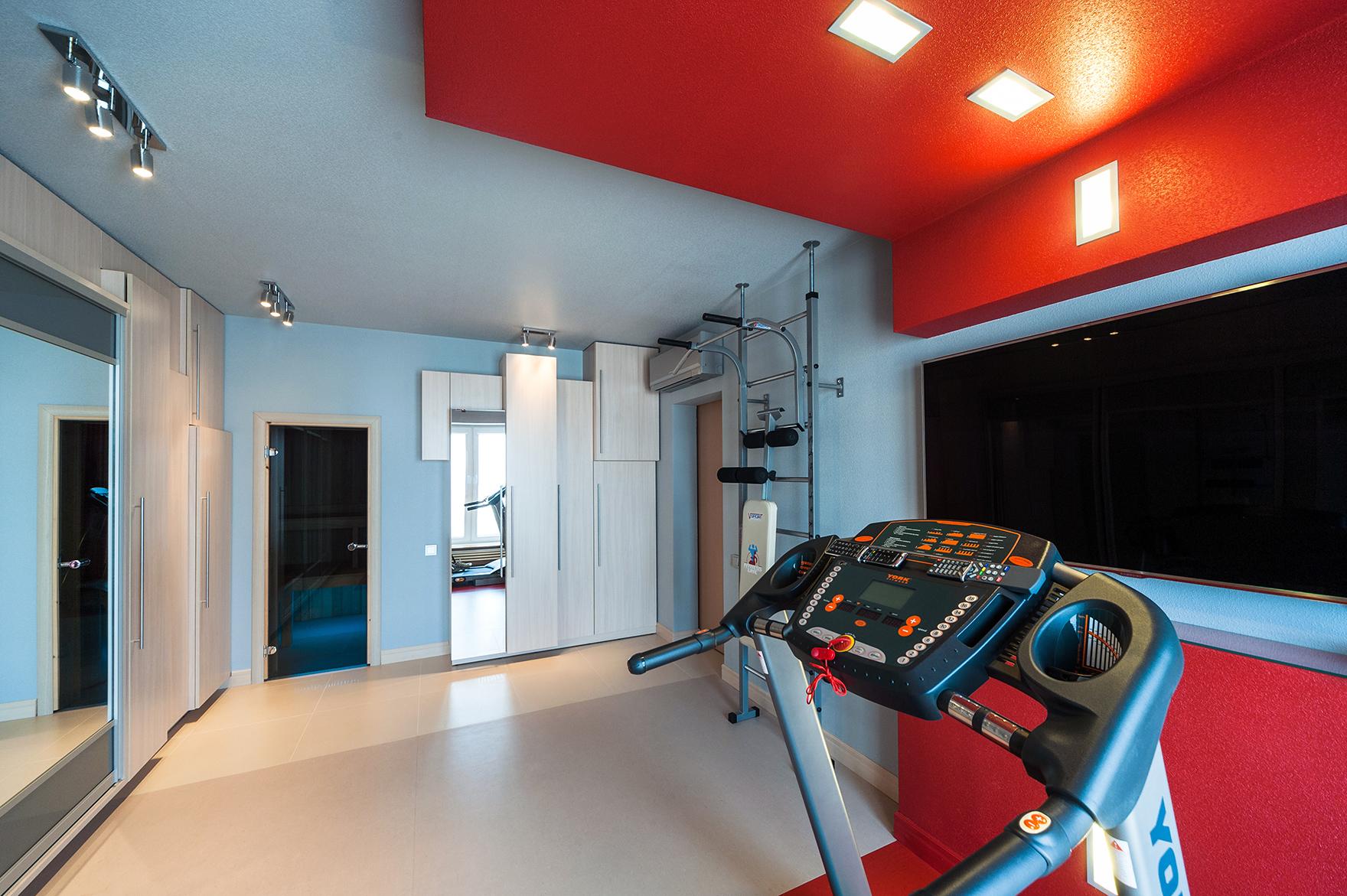 Квартира «», домашний спортзал, фото из проекта